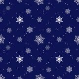 Capa azul marino del tinte del fondo del copo de nieve Foto de archivo