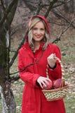 Capa con capucha roja Foto de archivo libre de regalías