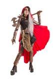 Capa con capucha rojo oscuro Foto de archivo libre de regalías