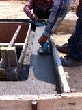 Capa con el cemento Imagen de archivo libre de regalías