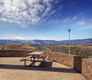Capa da montagem e vale bonitos de Hood River fotos de stock royalty free