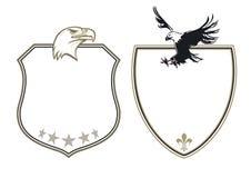 Capa de brazos con las águilas stock de ilustración