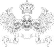Capa de brazos con los cráneos Imagenes de archivo