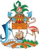 Capa de brazos de Bahamas Imágenes de archivo libres de regalías