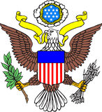 Capa de brazos de los E.E.U.U. stock de ilustración