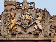 Capa de brazos real británica Foto de archivo libre de regalías