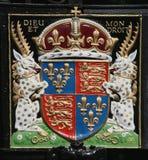 Capa de brazos real británica Imágenes de archivo libres de regalías