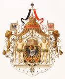 Capa de brazos real del imperio alemán Foto de archivo libre de regalías