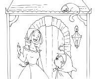 Capa de equitação e mamã vermelhas colorindo 2 Fotografia de Stock Royalty Free