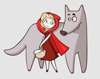 Capa de equitação vermelha Imagens de Stock Royalty Free