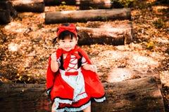 Capa de equitação vermelha Fotografia de Stock