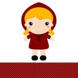 Capa de equitação vermelha retro bonito Fotografia de Stock