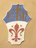 Capa de Florencia (Italia) de brazos Foto de archivo libre de regalías