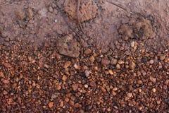 Capa de fondo subterráneo del suelo Foto de archivo libre de regalías