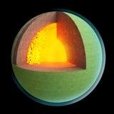 Capa de la estructura de la tierra Foto de archivo libre de regalías