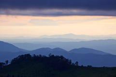 Capa de las montañas Fotografía de archivo