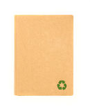 Capa de papel reciclada do caderno Fotografia de Stock Royalty Free
