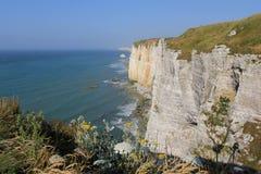 Capa del alabastro, Normandía Imagen de archivo