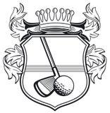 Capa del club de golf de brazos ilustración del vector