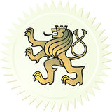 Capa del león de brazos stock de ilustración