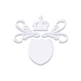 Capa del metal con la corona Imágenes de archivo libres de regalías
