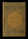 Capa do livro antiga do jornal do diário do vintage fotografia de stock royalty free
