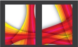 Capa do livro anual abstrata do folheto da disposição do inseto de Brouchure Imagens de Stock