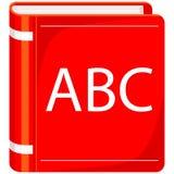 Capa do livro colorida de ABC do cartaz do ícone dos desenhos animados ilustração stock
