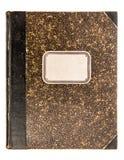 Capa do livro de couro do vintage isolada no fundo branco Fotos de Stock Royalty Free