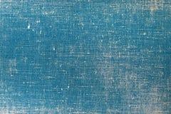 Capa do livro de pano do vintage com um teste padrão da tela azul e as texturas do fundo do grunge imagens de stock