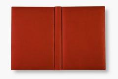 Capa do livro do couro de Brown com a rotação. fotos de stock royalty free