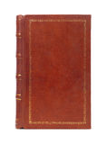 Capa do livro encadernada do vintage do couro Fotos de Stock Royalty Free