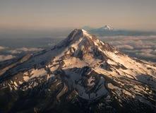 Três vulcões de Oregon Fotos de Stock Royalty Free