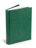 Capa dura verde vazia do livro - trajeto de grampeamento Fotografia de Stock Royalty Free