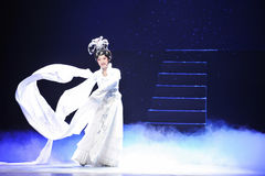 Capa larga de manga-Jiangxi OperaBlue Fotos de archivo libres de regalías