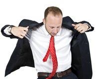 Capa que desgasta del hombre de negocios Foto de archivo libre de regalías