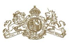 Capa real BRITÁNICA del símbolo de los brazos Imagen de archivo libre de regalías