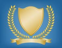 Capa real del oro de brazos Fotos de archivo