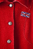 Capa roja de la señora Imagenes de archivo