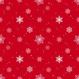 Capa roja del tinte del fondo del copo de nieve Foto de archivo libre de regalías