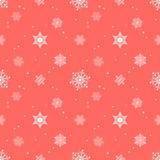 Capa roja en colores pastel del tinte del fondo del copo de nieve Fotos de archivo libres de regalías