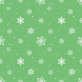 Capa verde en colores pastel del tinte del fondo del copo de nieve Foto de archivo libre de regalías