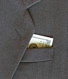 Capa y dinero Imagen de archivo libre de regalías