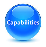Capabilities glassy cyan blue round button. Capabilities isolated on glassy cyan blue round button abstract illustration Stock Image