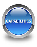 Capabilities glossy blue round button. Capabilities isolated on glossy blue round button abstract illustration Royalty Free Stock Image