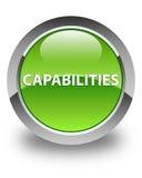 Capabilities glossy green round button. Capabilities isolated on glossy green round button abstract illustration Stock Photos