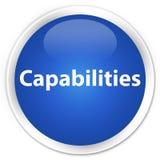 Capabilities premium blue round button. Capabilities isolated on premium blue round button abstract illustration vector illustration