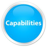 Capabilities premium cyan blue round button. Capabilities isolated on premium cyan blue round button abstract illustration Stock Photo