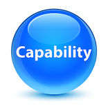 Capability glassy cyan blue round button. Capability isolated on glassy cyan blue round button abstract illustration Stock Images