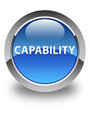 Capability glossy blue round button Stock Photo